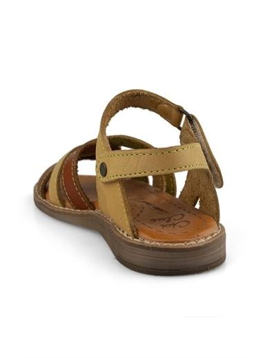 Cici Bebe Ayakkabı Kız Çocuk Sandalet Bej